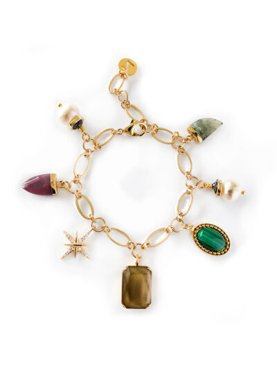 ARMBAND MET BEDELS - MULTI COLOR - N19FW085 a - ZATTHU JEWELRY